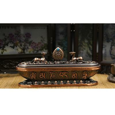Chinese-Style Incense Stick Holder Ash Catcher Joss Burner Home Decor Copper