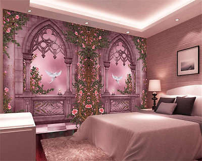 Rose Garden Corridor Full Wall Mural Photo Wallpaper Print Kids Home 3D Decal