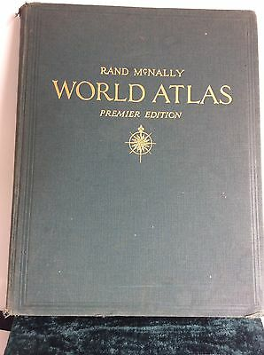RAND McNALLY WORLD ATLAS premier edition 1943 Graphics with WAR MAP SUPPLEMENT
