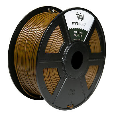 WYZwork 3D Printer Premium PLA Filament 1.75mm 1kg/2.2lb - Brown