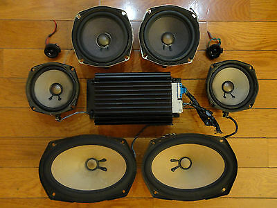 Bose 9-Piece Car Sound System *Powered* Speakers Nissan Infiniti Audi Mazda GMC