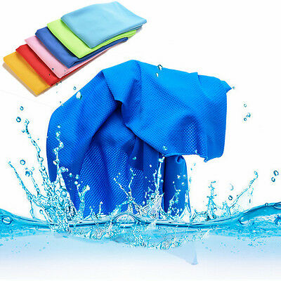 Sports Exercise Sweat Summer Ice Cold Towel PVA Hypothermia Cooling Towel F&F