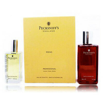 Pecksniff's Mens Professional Cologne & Shower Gel Set. Great for Fathers Day!
