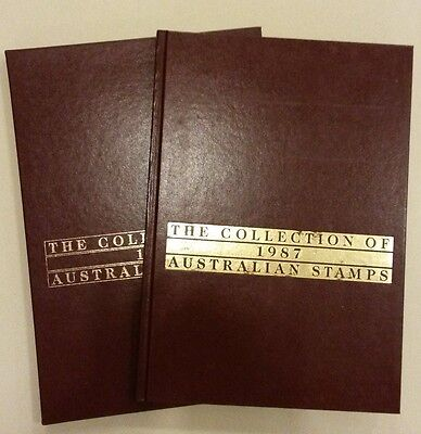 The Collection of 1987 Australian Stamps Album and Slipcase - No Stamps Included