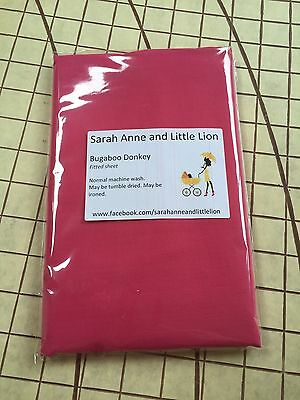 Bugaboo Donkey fitted sheet for carrycot bassinet Pink