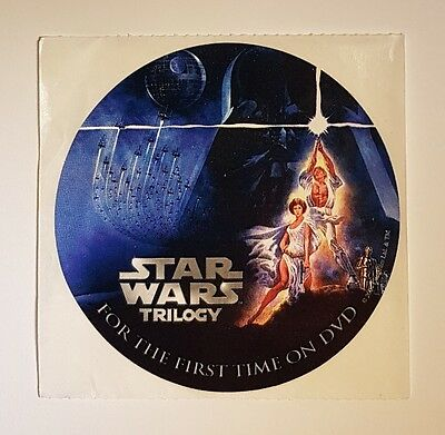 Star Wars Trilogy DVD Primotional Sticker, Luke, Leia, Darth Vader