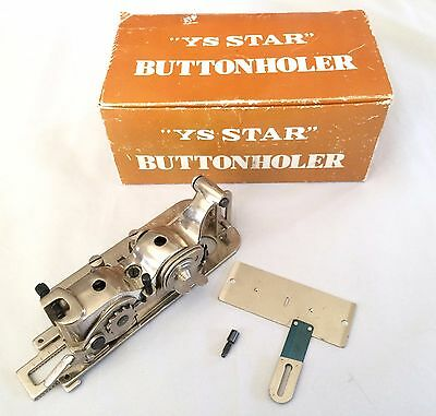 Vintage YS Star Buttonholer YS-4455 Industrial Sewing Machine Attachment Japan
