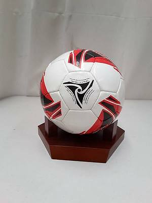 Official Weight & Size Soccer Ball size 5 White/Red - Hand Stitched PU