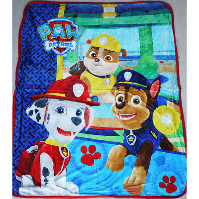 Kids Boys All Season Fur Fluffy Fleece Mink Blanket Paw Patrol Polar Throw Soft