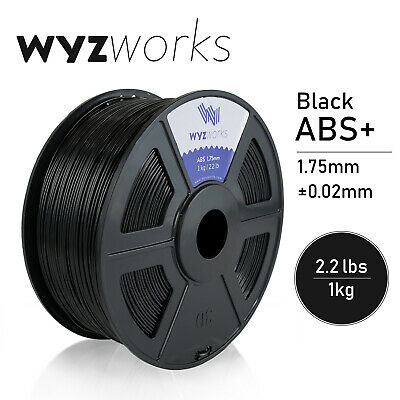 WYZwork 3D Printer Premium ABS Filament 1.75mm 1kg/2.2lb - Black