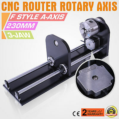 Cnc Router Rotary Axis 3-Jaw With 80Mm F Style Anti-Dust Cover Stainless