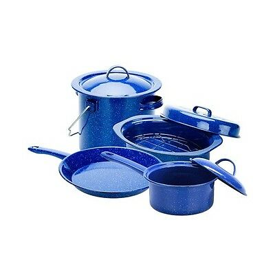 OZtrail Enamel Campsite Cookset Camp Cooking Hiking Outdoors OZTOCK-ECC-D