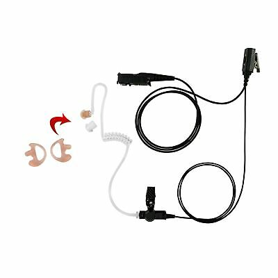 Earmold with 1-Wire Clear Coil Surveillance for Motorola XPR-3500 XPR-3300
