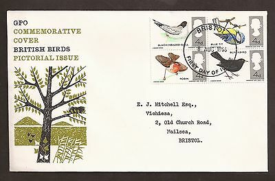 Great Britain first day cover. 8 August 1966 British Birds