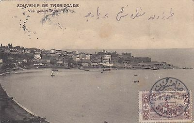 Turkey 1916 Trebizonde Card Used From Samsoun To Istanbul General View Du Port