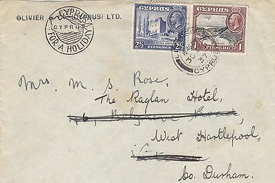 Cyprus  1937  Two  Color Cover From Limassol To England Uk