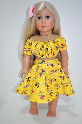 American Girl Doll Our Generation Gotz 18 Dolls Clothes Skirt Peasant Top