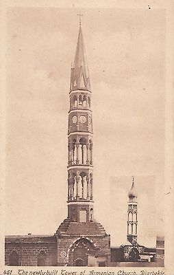 Turkey 1900 - 1915 Diyarbekir  Vintage Card 'the Newly Built Tower Of Armenian C