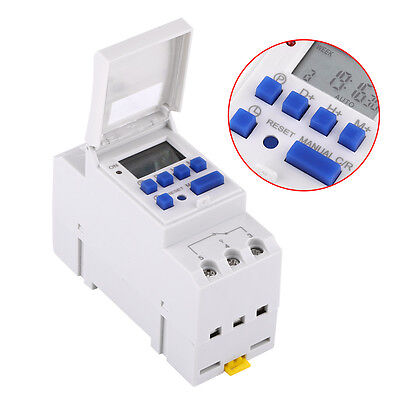 AHC15A DIN Rail Mounting Digital Programmable Timer Switch LCD Display High Q xx