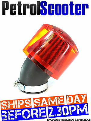 Pit Dirt Bike Angled 35mm KN Air Filter Cover Red Buggy Quad ATV Carburettor