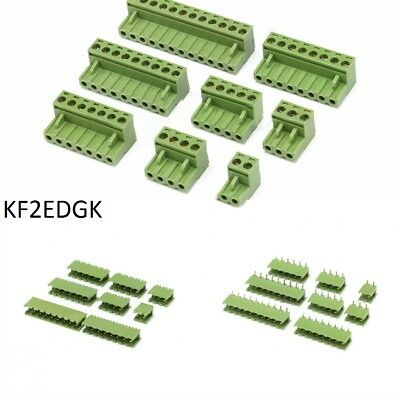 KF2EDGK 5.08mm Pitch PCB Terminal Block Screw Connector 2/3/4/5/8/9/10/12 Pin