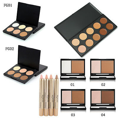 Hot Selling Face Eyeshadow Contour Palette Cosmetic Highlighter Bronzer Powder