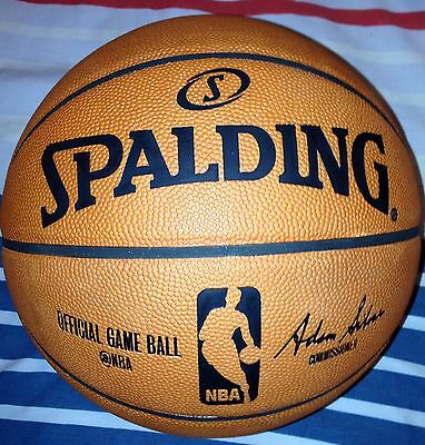 Brand New Spalding Official NBA GameBall | Size 7 | Pure Leather Ball Unused