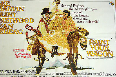 Paint Your Wagon original quad poster cinema Lee Marvin Clint Eastwood 1969
