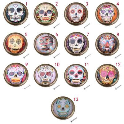 Skull Cupboard Door Knob Wardrobe Drawer Pull Handle Cabinet Hardware 13 Styles