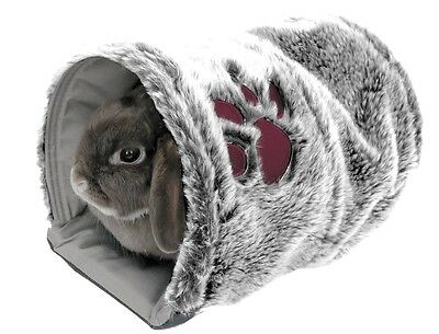 Rosewood Reversible Snug Tunnel Soft Warm Bed for Rabbit Guinea Pig Ferret