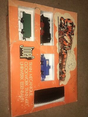 Rare Vintage Jouef Junior 7201 clockwork train set - complete 1970's