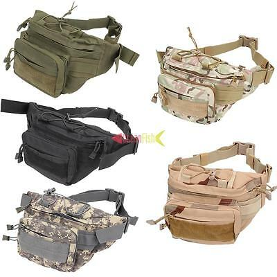 Men Utility Tactical Waist Pouch Fanny Pack Military Outdoor Camp Belt Bag