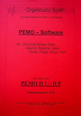 PEMO Software D1 - D5 GG für WERSI CD-Golden Gate Instrumente