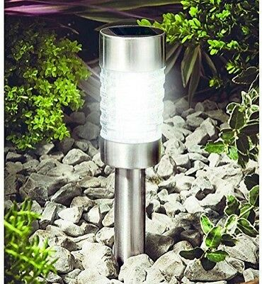 Gardman Stainless Steel Solar Powered Glass Marker Garden Decorative Light