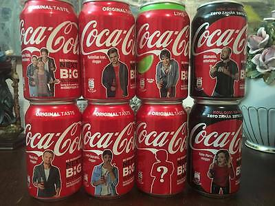 8 Complet set Coca Cola cans from Romania Limited Edition NEW