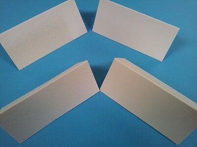 100 White Silk  Finish Table Place Name Cards- Blank- Weddings / Christmas Etc