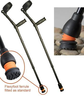 Flexyfoot Closed Cuff Crutches with Soft Grip Handle
