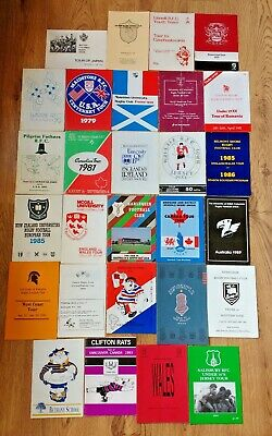 Rugby Union Tour Brochures 1970 - 2000