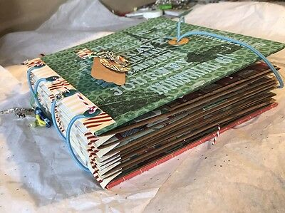 Handmade Travel Journal /Scrapbook/mini Album Mixed Media Art, Photo Album