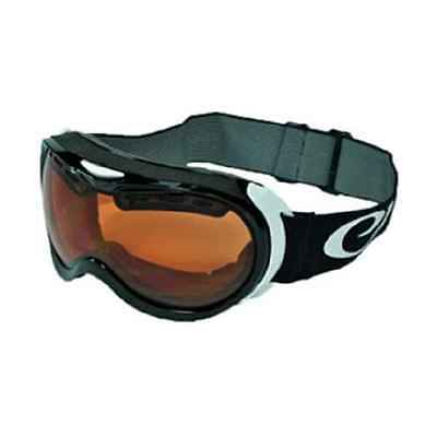 Snow Goggles Adults -Double,Antifog UV 400 Lens- Amber Lens Velocity blk/white