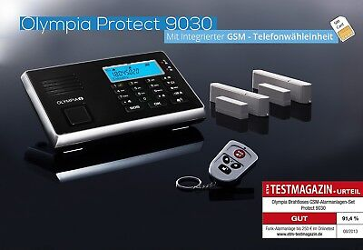 B-Ware OLYMPIA Protect 9030 Drahtloses GSM Alarmanlagen-Set