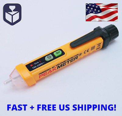 Peakmeter Non-Contact Voltage Detector 12v-1000V AC Voltage Tester Pen with LED