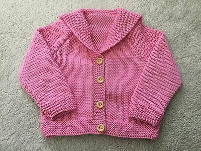 Hand Knitted Girls Cardigan 0-6 Months