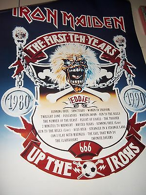 "Iron Maiden 10Th Anniversary And A Very Rare 1990 Poster 22"" X 34"""