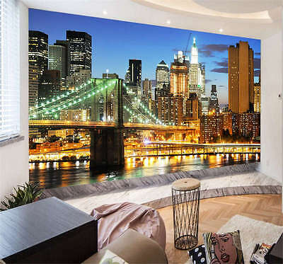 Light Broadway New York City Full Wall Mural Photo Wallpaper Print Home 3D Decal