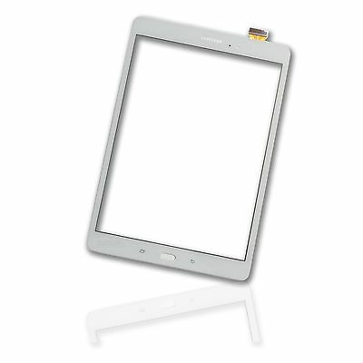 "Display Glass Samsung Galaxy Tab A 9.7"" SM T550 Touch Screen Frontscheibe weiss"