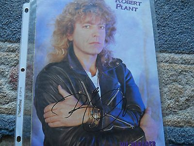 Robert Plant Autographed Mag. Photo