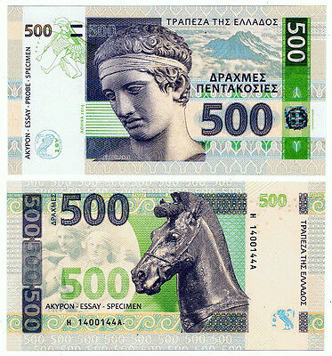 Griechenland. Greece. Private issue. 500 Drachmas (2014). UNC.