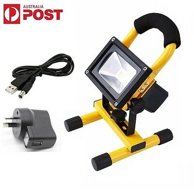 10W Portable LED Rechargeable Flood Work Light Camping Fishing Waterproof IP65