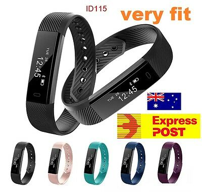 VERY FIT Smart Wristband Fitness Tracker Bluetooth IOS Andriod ID115.